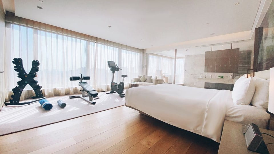 Treat yourself to a rejuvenating wellness staycation #atEAST. Get your heart pumping with our latest fitness equipment, prepared in your room just for you! Click the link in the bio to book now.  #EASTBJ #wellness #staycation