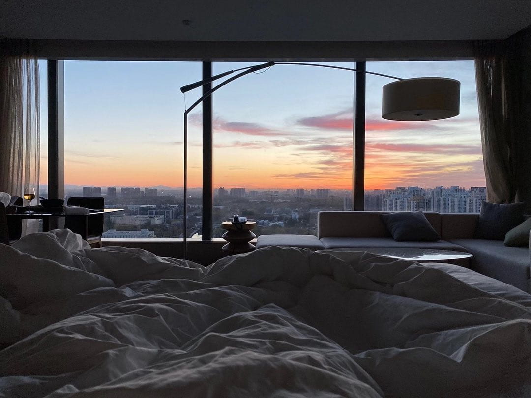 Lay back and watch the sun rise. #aroomwiththeview #atEAST